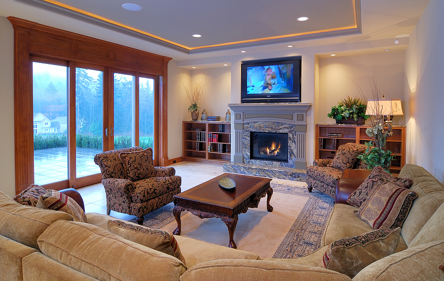 Luxurious Living Room with a View